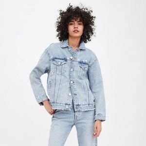 Zara Denim Oversized Jacket